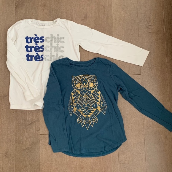 J. Crew crewcuts and Old Navy T-shirts (set of 2)